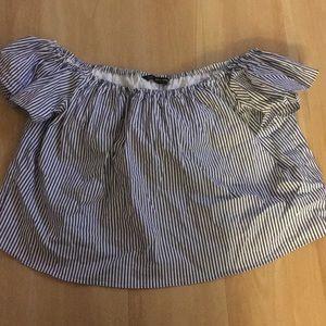 Zara Basic poplin blouse